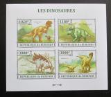 Poštovní známky Burundi 2013 Dinosauři neperf. Mi# 3238-41 B