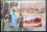 Poštovní známka Burundi 2012 Umění, dostavníky Mi# Block 300 B
