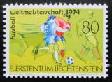 Poštovní známka Lichtenštejnsko 1974 MS ve fotbale Mi# 606