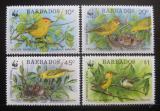 Poštovní známky Barbados 1991 Ptáci, WWF Mi# 770-73 Kat 17€