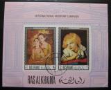 Poštovní známky Rás al-Chajma 1968 Umění neperf. Mi# Block 44 B