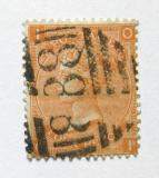 Poštovní známka Velká Británie 1865 Královna Viktorie SC# 43, desky č. 14 Kat $90