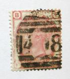 Poštovní známka Velká Británie 1873 Královna Viktorie SC# 61, desky č. 11 Kat $48