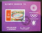Poštovní známka Šardžá 1971 LOH Mnichov neperf. Mi# Block 90 B