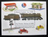 Poštovní známka Sierra Leone 1992 Modely vlaků Mi# Block 204