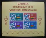 Poštovní známky Ghana 1968 Výročí WHO Mi# Block 32