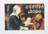 Poštovní známka Uganda 1986 Umění, známka z aršíku Mi# 513