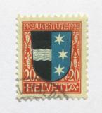 Poštovní známka Švýcarsko 1926 Erb Aargau Mi# 220