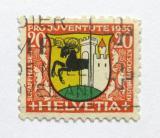 Poštovní známka Švýcarsko 1930 Erb Schaffhausen Mi# 243
