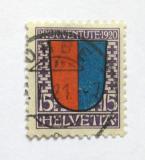 Poštovní známka Švýcarsko 1920 Erb Ticino Mi# 155