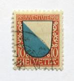 Poštovní známka Švýcarsko 1920 Erb Zurich Mi# 154 Kat 19€