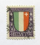 Poštovní známka Švýcarsko 1923 Erb Neuchatel Mi# 187