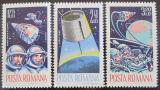 Poštovní známky Rumunsko 1965 Průzkum vesmíru Mi# 2427-29