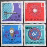 Poštovní známky Rumunsko 1967 Výstava EXPO Mi# 2635-38