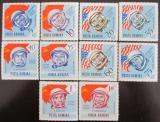 Poštovní známky Rumunsko 1964 Kosmonauti Mi# 2238-47