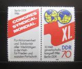 Poštovní známky DDR 1986 Kongres odborů Mi# 3049