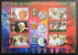 Poštovní známky Čad 2014 Papeži, zlaté písmo