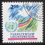 Poštovní známka Lichtenštejnsko 1991 Členství v OSN Mi# 1015