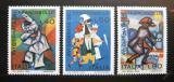 Poštovní známky Itálie 1974 Tanečníci Mi# 1473-75