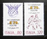 Poštovní známky Itálie 1979 ME v basketbalu Mi# 1662-63