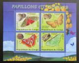 Poštovní známky Kongo 2007 Motýli a fosílie