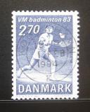 Poštovní známka Dánsko 1983 Badminton Mi# 770