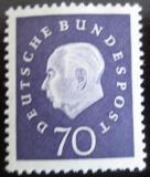 Poštovní známka Německo 1959 Prezident Heuss Mi# 306