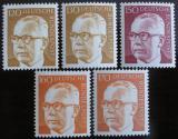 Poštovní známky Německo 1972 Prez. Heinemann, ročník Mi# 691-92,728,730-31 Kat 13€