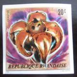 Poštovní známka Rwanda 1980 Houby neperf. Mi# 1051 B