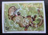 Poštovní známka Rwanda 1981 Vydra neperf. Mi# 1124 B
