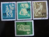 Poštovní známky Bulharsko 1961 Pěší turistika Mi# 1250-53