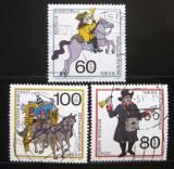 Poštovní známky Německo 1989 Historie pošty Mi# 1437-39