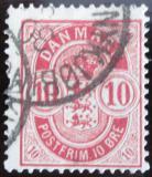 Poštovní známka Dánsko 1885 Nominální hodnota Mi# 35 YAa