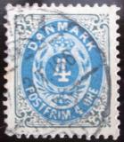 Poštovní známka Dánsko 1895 Nominální hodnota Mi# 23 I Y B b