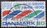 Poštovní známka Dánsko 1970 Výročí OSN Mi# 505