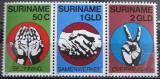 Poštovní známky Surinam 1980 Nezávislost, z aršíku Mi# 923-25