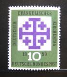 Poštovní známka Německo 1959 Sjezd protestantů Mi# 314