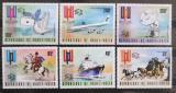 Poštovní známky Horní Volta 1974 UPU, 100. výročí Mi# 517-22