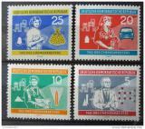 Poštovní známky DDR 1960 Pracovníci v chemickém průmyslu Mi# 800-03