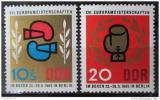 Poštovní známky DDR 1965 ME v boxu Mi# 1100-01