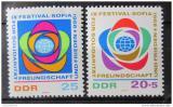 Poštovní známky DDR 1968 Festival mládeže Mi# 1377-78