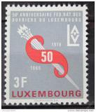 Poštovní známka Lucembursko 1966 Federace pracujících Mi# 723