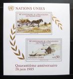 Poštovní známky OSN Ženeva 1985 Výročí založení Mi# Block 3
