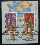 Poštovní známky Maďarsko 1989 Meziparlamentní unie Mi# Block 202