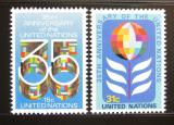 Poštovní známky OSN New York 1980 Výročí OSN Mi# 346-47