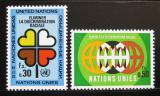 Poštovní známky OSN Ženeva 1971 Boj proti rasismu Mi# 19-20