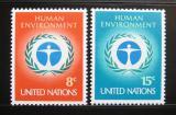 Poštovní známky OSN New York 1972 Lidské prostředí Mi# 249-50