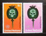 Poštovní známky OSN New York 1973 Boj proti drogám Mi# 256-57