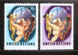 Poštovní známky OSN New York 1974 Rok populace Mi# 275-76