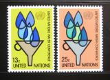 Poštovní známky OSN New York 1977 Konference o vodě Mi# 305-06